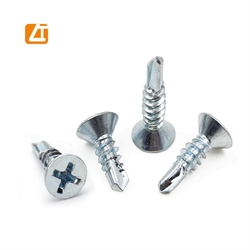 countersunk flat head CSK self tapping screws/self drilling screws DIN7982 DIN7504P